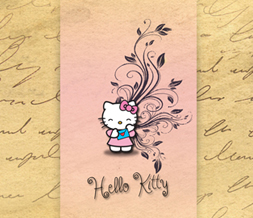 Pink & Yellow Hello Kitty Wallpaper - Pretty Hello Kitty Wallpapers Preview