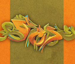 Abstract Graffiti Wallpaper - Orange Graffiti Background Image