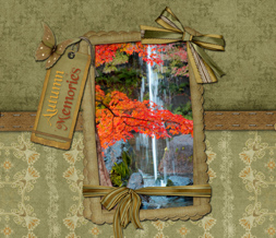 Autumn Memories Quote Wallpaper Download - Fall Butterfly Background