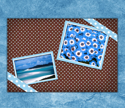 Blue & Brown Polkadot Wallpaper - Pretty Scenic Wallpaper Download