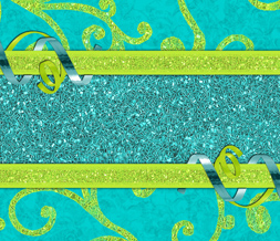 Green & Blue Sparkle Wallpaper -  Blue Ribbon Wallpaper Download