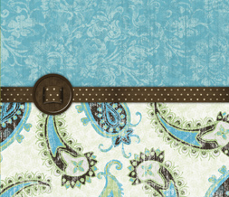 Brown & Blue Vintage Wallpaper - Vintage Paisleys Wallpaper Download