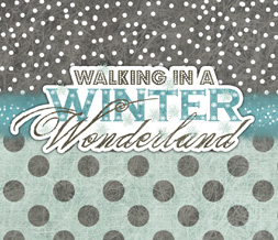 Winter Polkadot Wallpaper - Winter Wonderland Quote Wallpaper