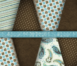 Blue & Brown Pattern Wallpaper - Vintage Polkadot Wallpaper Download