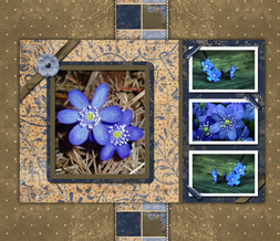 Brown & Blue Victorian Wallpaper - Blue & Brown Flower Background Theme