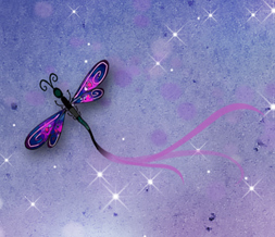 Cute Dragonfly Wallpaper - Purple Dragonflies Wallpaper Download