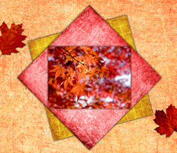 Bright Pink & Orange Fall Wallpaper Download - Unique Autumn Leaves Background