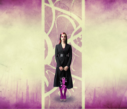 Black & Pink Girl Wallpaper - Purple & Black Goth Background