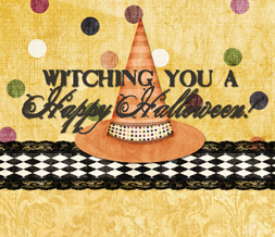 Halloween Witch Wallpaper - Yellow Halloween Background with Quote