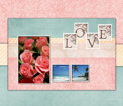 Pink & Blue Love Wallpaper - Blue & Pink Scenic Background Download