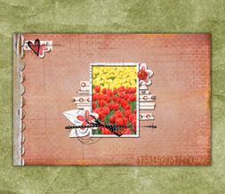 Yellow & Red Tulips Wallpaper - Hearts & Flowers Background