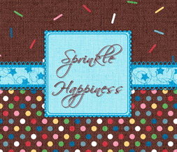 Sprinkle Happiness Quote Wallpaper - Cute Polkadot Wallpaper Image