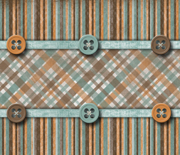 Blue & Orange Stripes Wallpaper - Orange & Brown Plaid Wallpaper Image