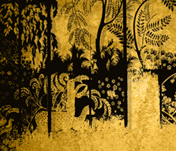Artistic Yellow & Black Wallpaper Download -  Black & Yellow Scenic Painting Background