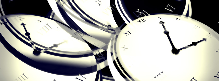 Abstract Clocks Facebook Cover