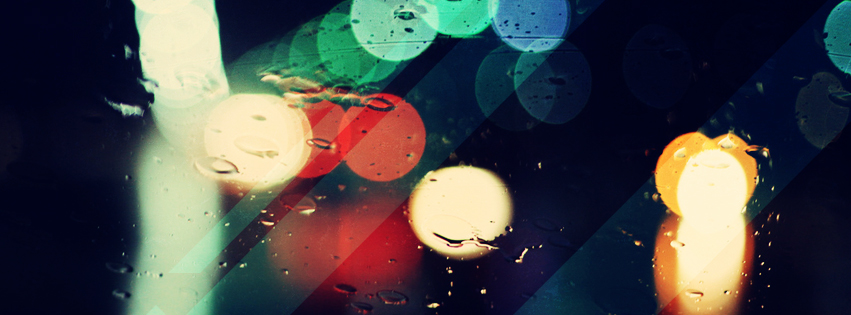 Abstract Raindrop Facebook Cover