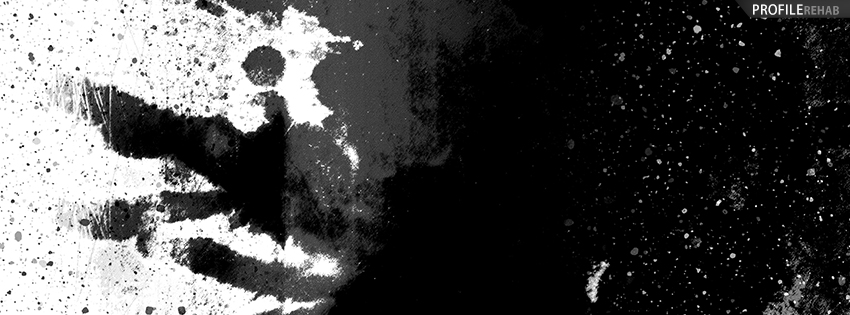 Black and Gray Abstract Facebook Cover