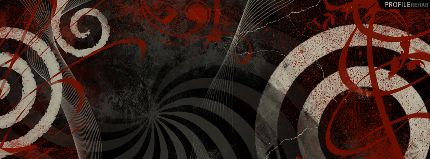 Red & Black Abstract Cover for Facebook