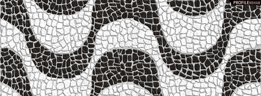 Black and White Stone Pattern Cover for Facebook