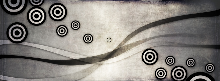 Black & White Abstract Facebook Cover