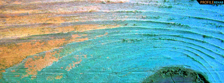 Blue Wood Texture Facebook Cover