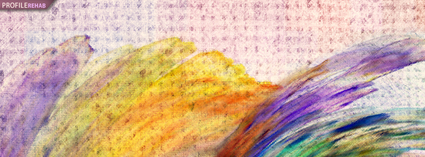 Bright Colored Abstract Painting Facebook Cover