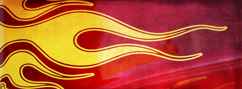 Grunge Flames Facebook Cover