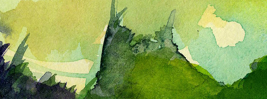 Green Abstract Paper Facebook Cover
