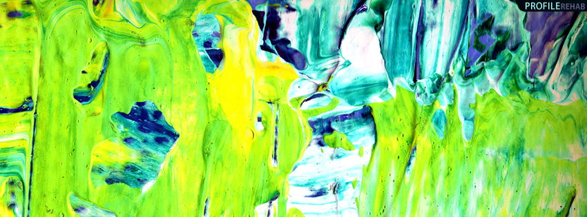 Green Abstract Paint Cover for Timeline