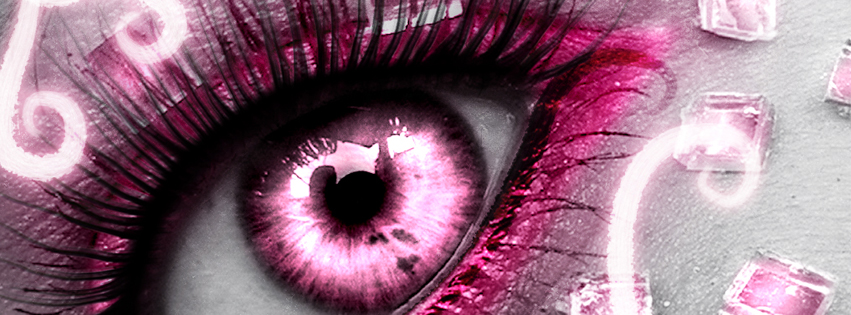 Pink Eye Facebook Cover Preview