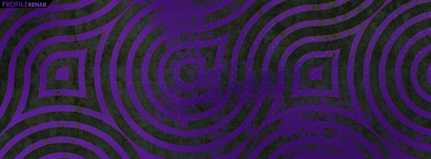 Purple And Black Pattern Facebook Cover