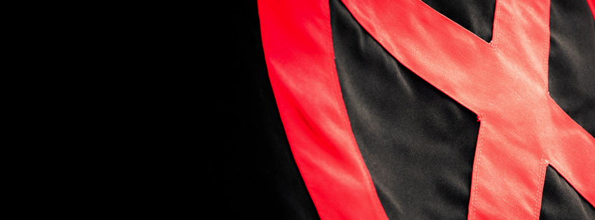 Red & Black Abstract Facebook Cover