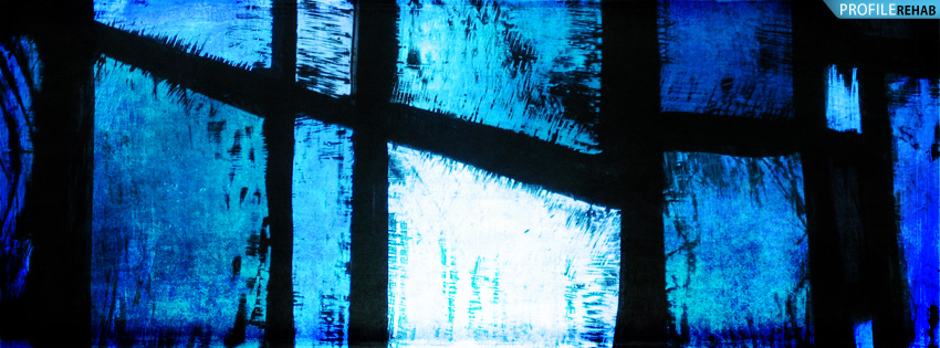 Blue Stained Glass Facebook Cover