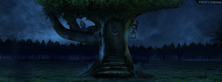 Artistic Fantasy Tree with Door Cover for Timeline
