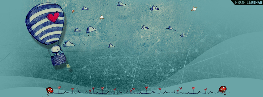 Artistic Hot Air Balloon Facebook Cover