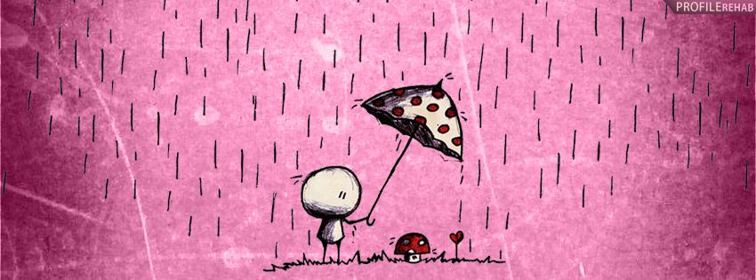 Pink Artistic Rain Facebook Cover