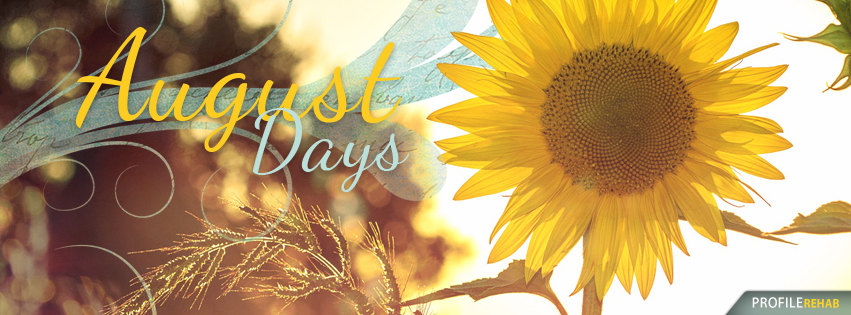 August Theme with August Days Text - Pretty August Photos