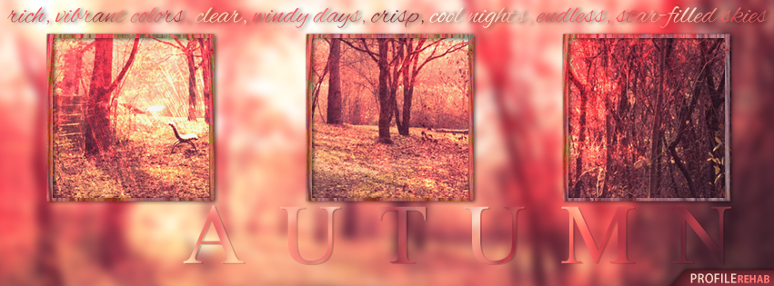 Autumn Facebook Cover With Quote About Fall