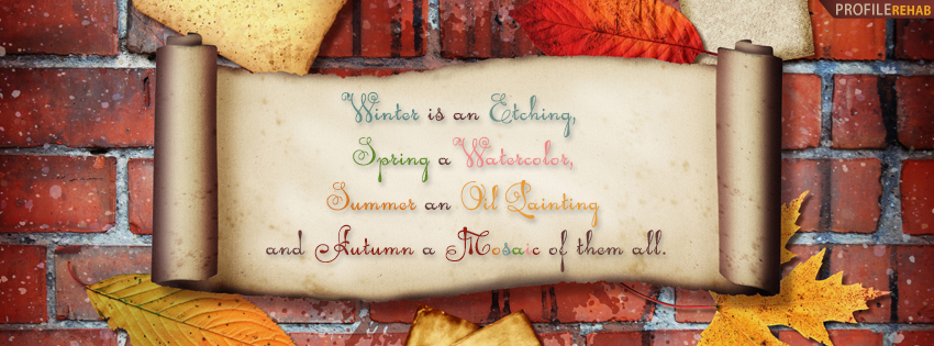 Autumn Quote Facebook Cover - Quotes About Autumn Pictures - Autumn Sayings Pics
