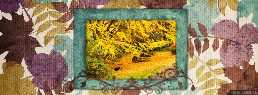 Blue & Brown Fall Facebook Cover - Beautiful Pictures of Fall - Photo Autumn