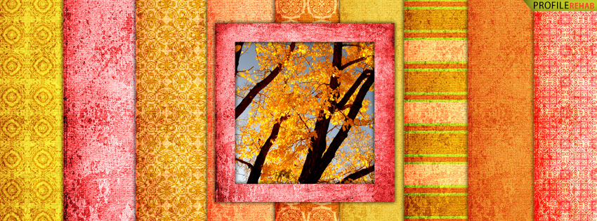 Bright Fall Colors Facebook Cover - Images of Autumn Season - Pretty Autumn Scenes Pics