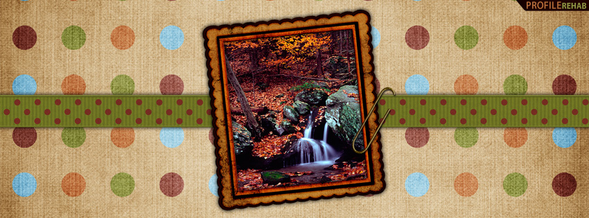 Polkadotted Fall Waterfall Facebook Cover - Waterfall Pics - Waterfall Background