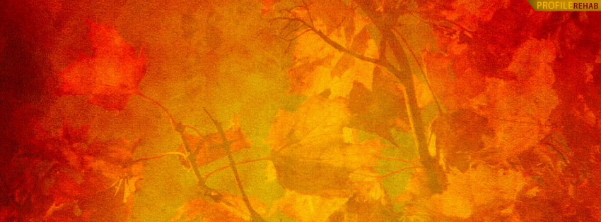 Red Fall Scenery Facebook Cover - Colors of Fall Images - Colors of Autumn Pictures