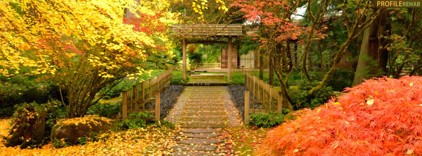 Beautiful Fall Path Facebook Cover - Fall Foliage Photos - Fall Facebook Cover Photos