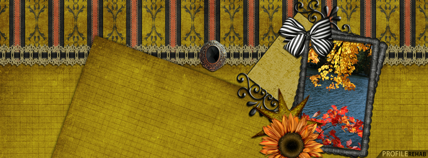 Elegant Vintage Fall Facebook Cover - Cute Fall Images Free - Pretty Fall Picture
