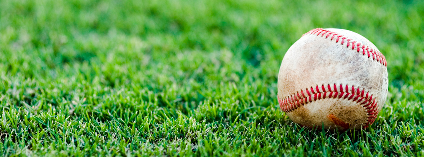 Baseball in Grass Facebook Cover