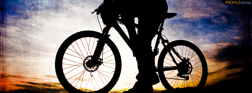 Biker in Sunset Facebook Cover for Timeline