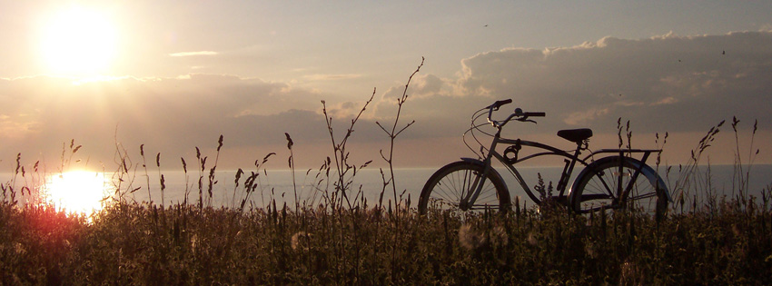 Pretty Bike in Sunset Facebook Cover Preview