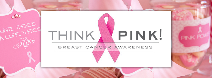 Think Pink Breast Cancer Awareness Facebook Cover Breast Cancer