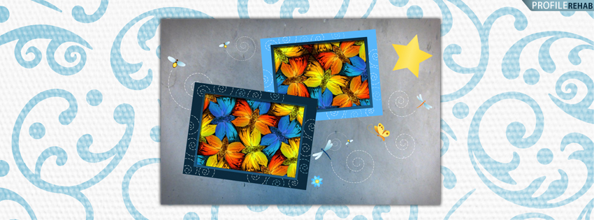 Butterflies and Fireflys Facebook Cover for Timeline